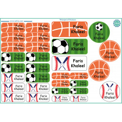 Tob3a Waterproof Stickers, Footballs