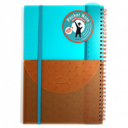 Amigo Spiral Wire Notebook, turquoise, 96 pages