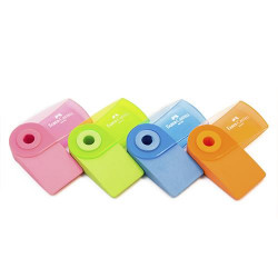 Faber Castell FC Erasers PVC Free Sleeve Mini Fluorescent, Assorted Colors