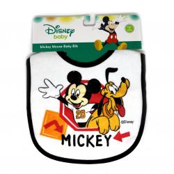 Mickey & Minnie Cotton Baby Bib, Black