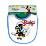 Mickey & Minnie Cotton Baby Bib, Blue