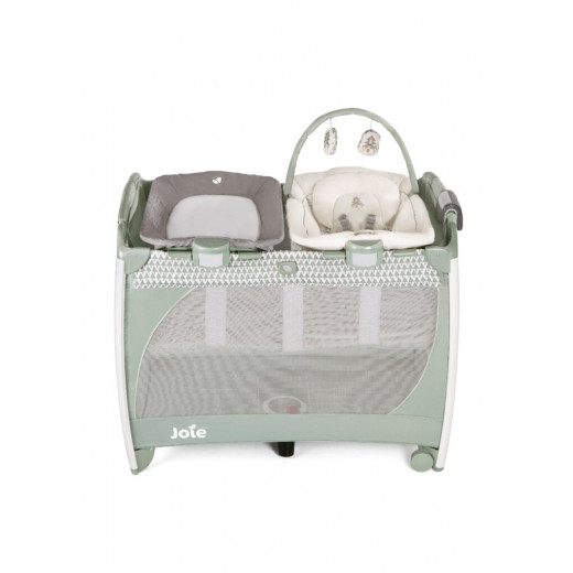 Joie Excursion Change & Bounce Travel Cot, Wild Island