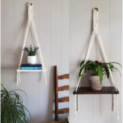 Tala's Made Macrame 1 Shelf Wall Hanger