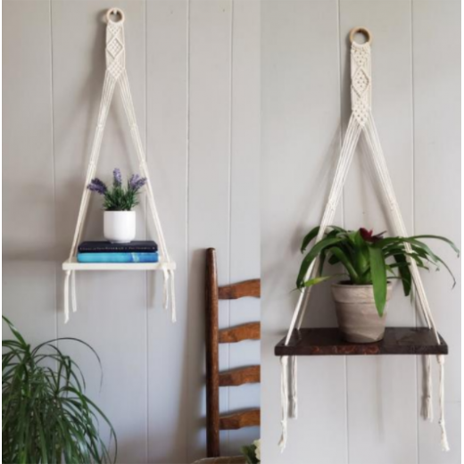 Tala's Made Macrame 1 Shelf Wall Hanger