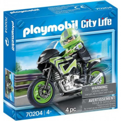 Playmobil Motorcycle With Rider 4 Pcs For Children