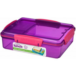 Sistema Lunch Snack Attack Duo, 975 ml, Assorted Colours - Purple