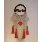 Tala's Made Macrame Dream Catcher Customized Name , 25 cm