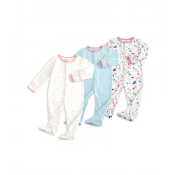 Colorland Long-Sleeve Baby Overall 3 Pieces In One Pack 0-3 months, Unicorn