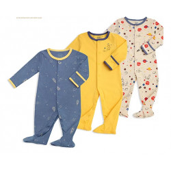 Colorland Long-Sleeve Baby Overall 3 Pieces In One Pack 6-9 Months