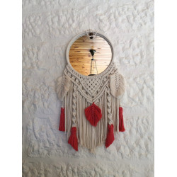Tala's Made Macrame Mirror Dream Catcher, 30 cm