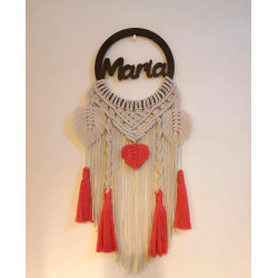 Tala's Made Macrame Dream Catcher Customized Name , 30 cm