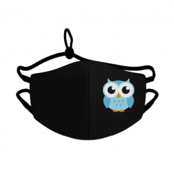 Mlabbas Kids Face Mask Blue Owl 4-10 years