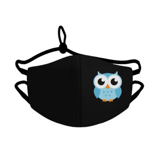Mlabbas Kids Face Mask Blue Owl 4-10 years