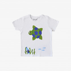 The Orenda Tribe The Turtle Kids Coloring T-shirt, 8 years