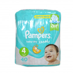 Pampers Baby-Dry Size 4, 9-14 Kg, 40 Diapers