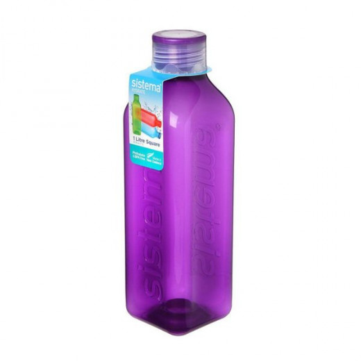 Sistema Hydrate Square  Bottle, 1 L - Purple