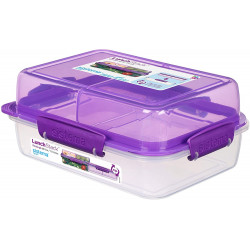 Sistema To Go Rectangle Lunch Stack Box, 1.8L - Purple