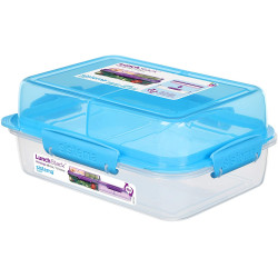 Sistema To Go Rectangle Lunch Stack Box, 1.8L - Blue