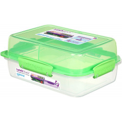 Sistema To Go Rectangle Lunch Stack Box, 1.8L - Green