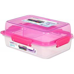 Sistema To Go Rectangle Lunch Stack Box, 1.8L - Pink
