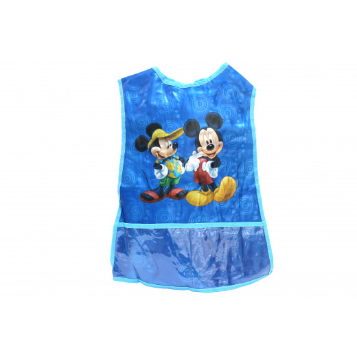 Wax Apron  for Artwork, Micky Mouse Design , Blue