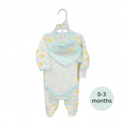 3 Pieces Layette Set- 0-3 months