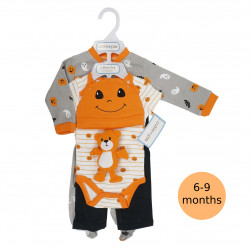 5 Piece Halloween Layette Set, 6-9 months