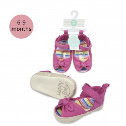 Happy Baby Shoe with Knotted Bow, Pink, 6-9 months