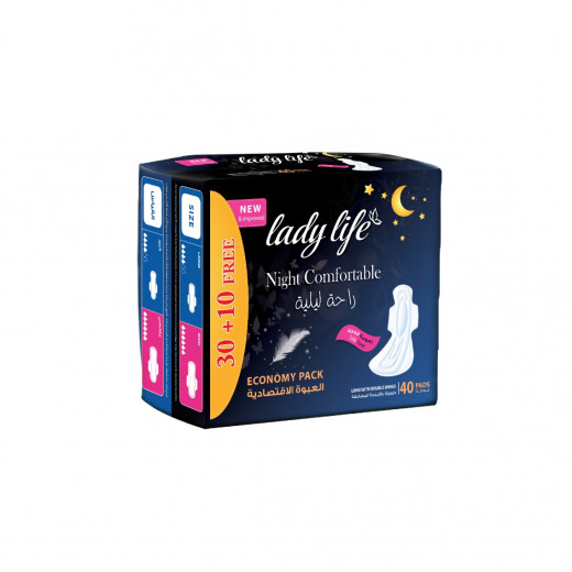 Lady Life Night Comfortable Pads, Economy Packs