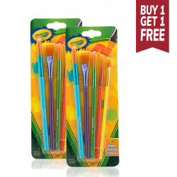 Crayola Arts & Crafts Brushes, 5 Count, Buy 1 Get 1 Free
