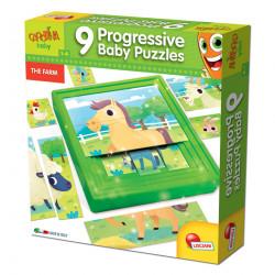 Lisciani Carotina Baby 9 Progressive Puzzles - La Ferme