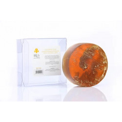 Iris Glycerin Soap with Natural Luffa 200g, Brown