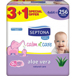 Septona Baby Wipes Aloe Vera 64pcs 3+1