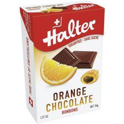 Halter Orange Chocolate Sugarfree Bonbons 40g