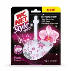 Bolton WC NET Crystal gel pink flowers one block