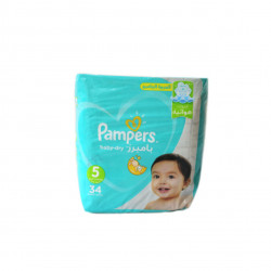 Pampers Baby-Dry Diapers, Size 5, 34 Count