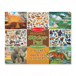 Melissa & Doug Reusable Sticker Pad - Jungle & Savanna
