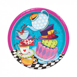 Amscan Mad Hatter Tea Party Lunch Plates X8