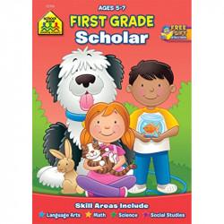 School Zone First Grade Scholar Workbook, 32 pages
