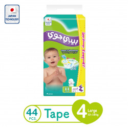 Baby Joy Diapers Large Size 4, 10-18 kg, 44 Piece