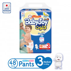 Baby Joy Pants Medium Size 3, 6-12 kg, 48 Pieces