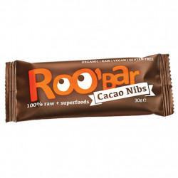 DRG Org GF Roo Bar Cacao Nibs & Almond 30g