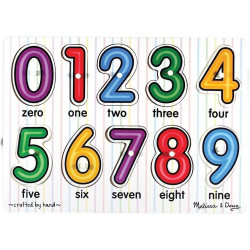 Melissa & Doug See - Inside Numbers Peg Puzzle