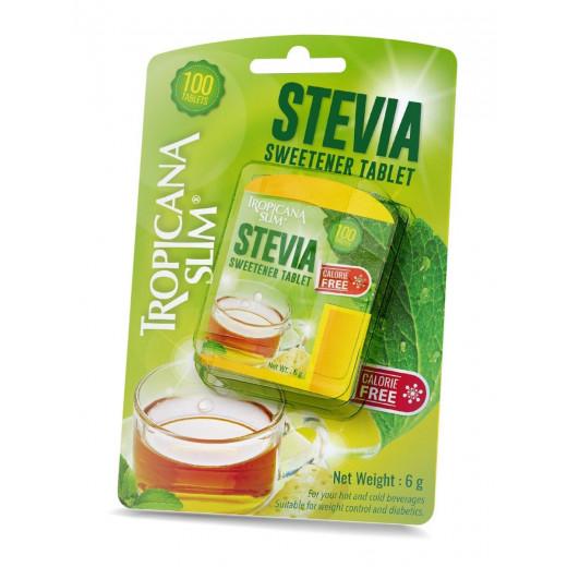 Tropicana Slim Sweetener Stevia 100 Tablets 18 g