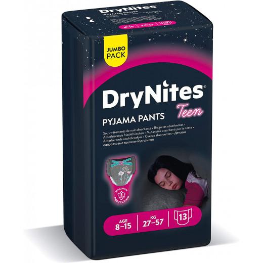 DryNites 8-15 years Jumbo Girl  27-57KG 9 PCS