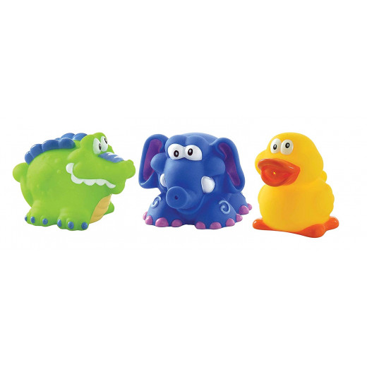 Nuby Fun Bath Squirters, 3 pieces