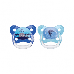 Dr. Brown's PreVent Butterfly Sheild Pacifier, Stage 1, 0-6 months, Blue