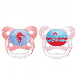 Dr. Brown's PreVent Butterfly Sheild Pacifier, Stage 1, 0-6 months, Pink