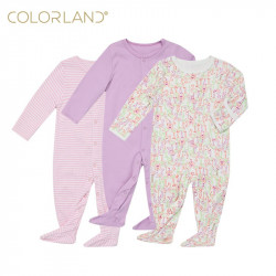 Colorland Long-Sleeve Baby Overall 3 Pieces In One Pack 3-6 Months