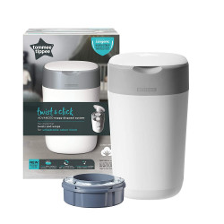 Tommee Tippee Twist and Click Advanced Nappy Disposal Sangenic Tec Bin, White